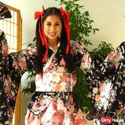 Im Kimono mit nichts drunter