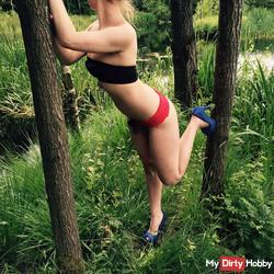 Naked caught in the forest)