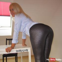 Hot shiny leggings & blouse