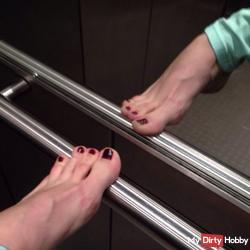 Feet in elevator