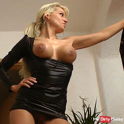 feared by young cock in latex dress
