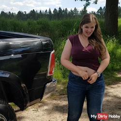 USER in his car milked POV!