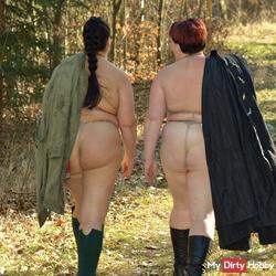 2 lesbians - erotic walk in spring 2