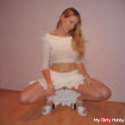 Geiler white mini and heels