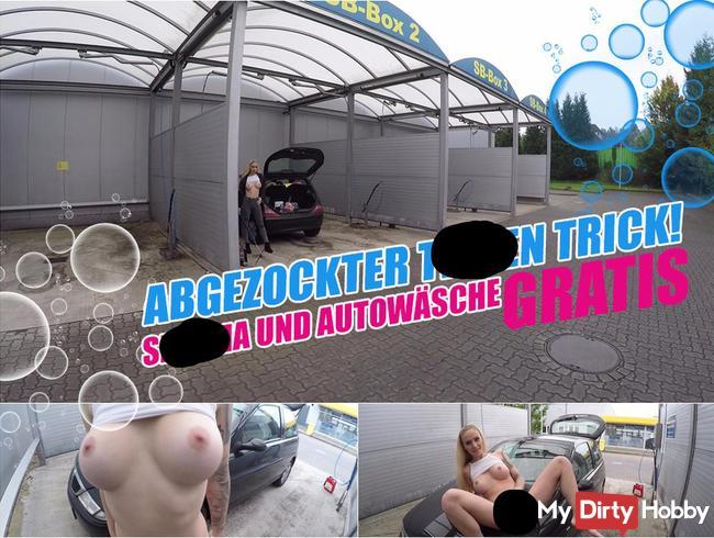 ABGEZOCKTER TITTEN TRICK! |  SPERMA UND AUTOWÄSCHE GRATIS