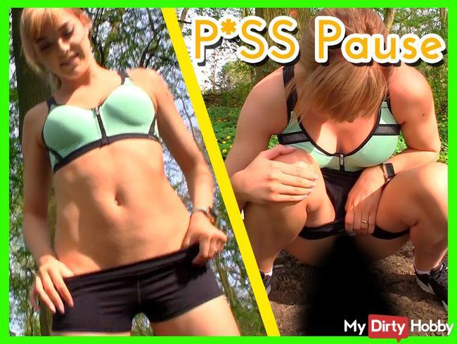 PISS Pause beim Joggen