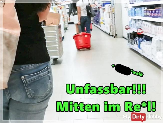 Krass! Mitten im Supermarkt!