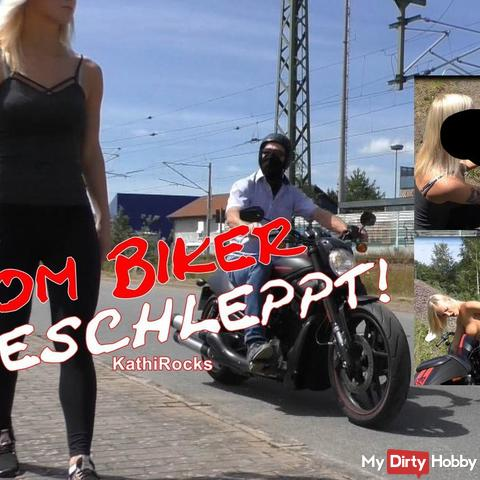 Vom Biker abgeschleppt!