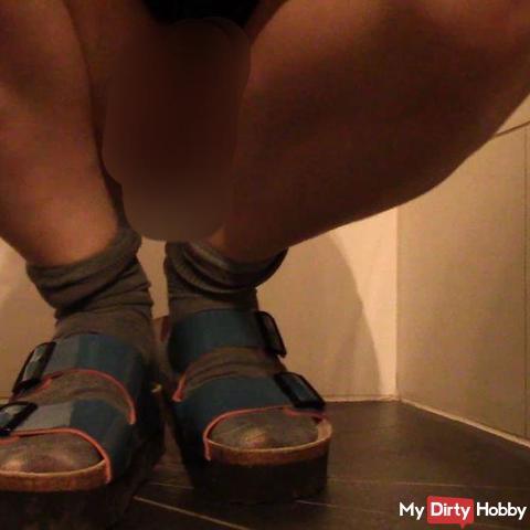 über meine Sandalen