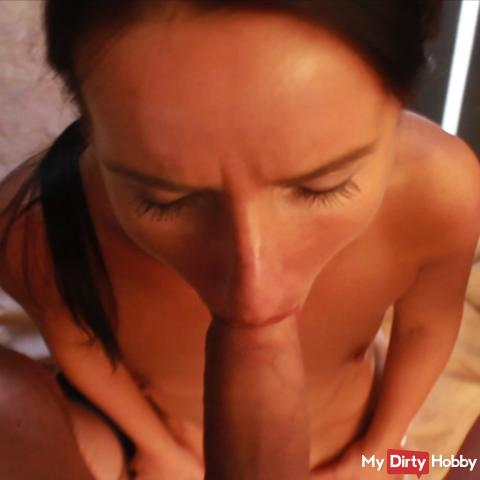 Slut is annoyed at sucking cock