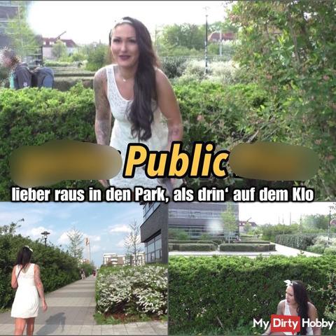 geiler Sommer pi** - mitten im Stadtpark!