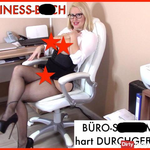 BUSINESS-BITCH! BÜRO-SCHLAMPE hart DURCHGEfi**T! AO