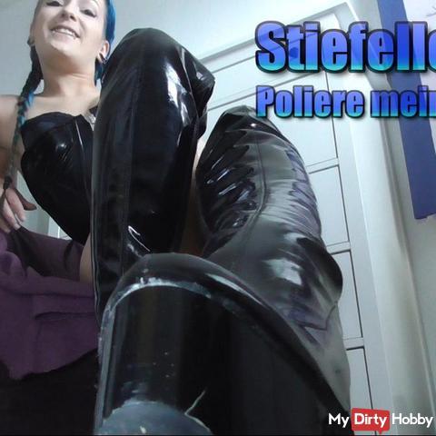 Stiefellec*er- Poliere meine Stiefel!
