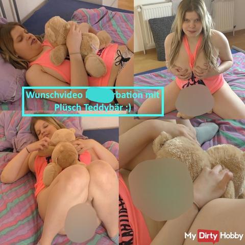 Wunschvideo verwöhne mich mit Kuschel Teddybär