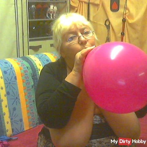Luftballons Aufbla*en