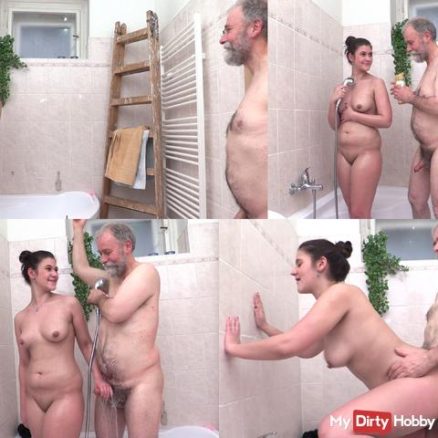 I fuck young Lena in the shower