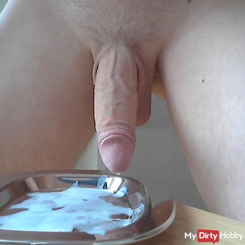 Cum on a silver platter