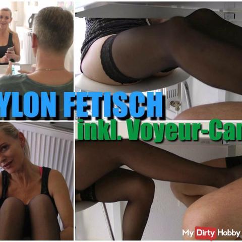Nylon-foot**b I Inkl. Voyeur-Cam !