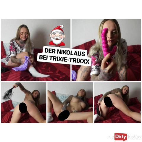 Wie der Nikolaus Trixie einen Orgasmus schenkte