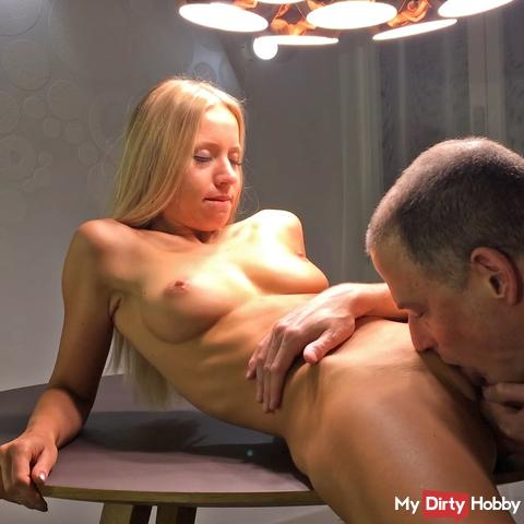 Blonde Teen Girl can be pampered