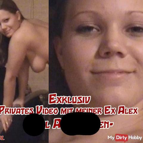 Privates Video mit der Ex Alex - Abgeritten
