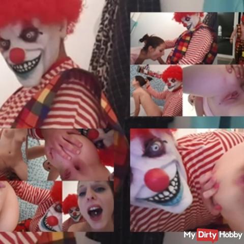 Brutally...!!! Fieser horror clown, used me as Anal Fickfleisch