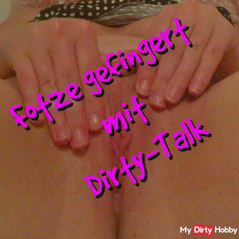Pussy fingered with Dirty Talk
