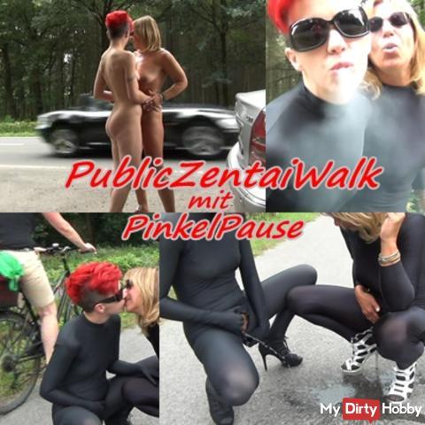 PublicCatsuitWalk mit PinkelPause