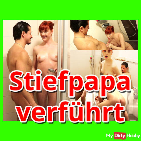 Stepdaddy seduced while showering :O !