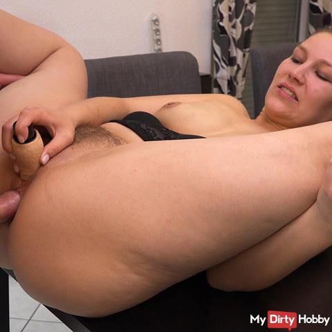 My first double penetration with Analcreampie and dual orgasm
