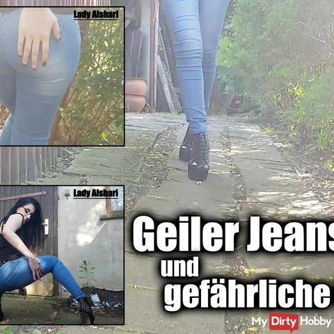 Geiler jeans ass and dangerous heels