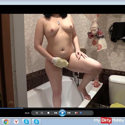 masturbation in the shower.