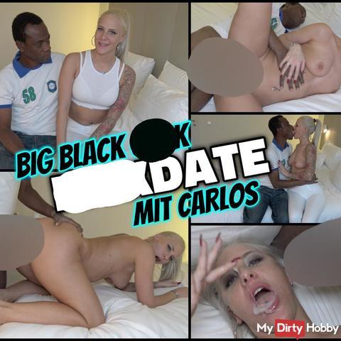 BLACK fi**DATE mit Carlos | 23 cm zerstören meine enge fo**E ohne Gummi