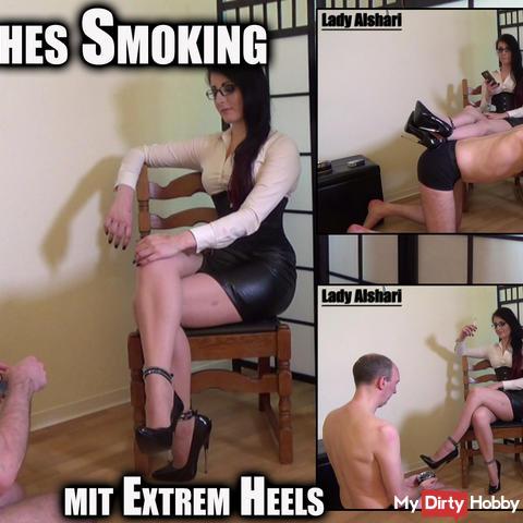 Classic tuxedo with extreme heels