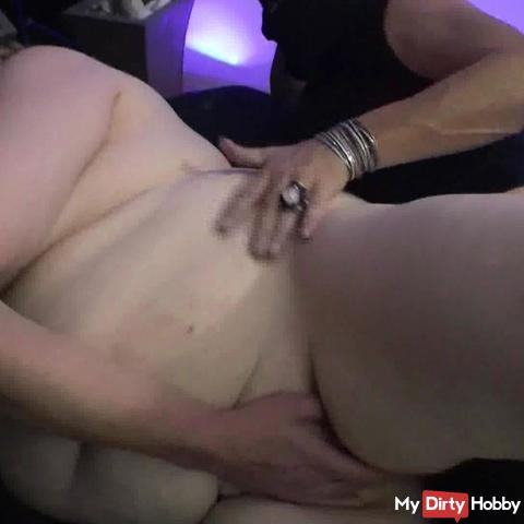 Blowing fingers and fucked