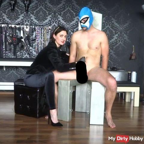 2x verbotener Ruinierter Orgasmus auf dem bon**** Stuhl Samtgöttin