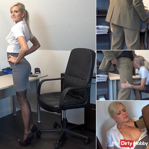 Pervert bitch! Horny trainee caught and punished!