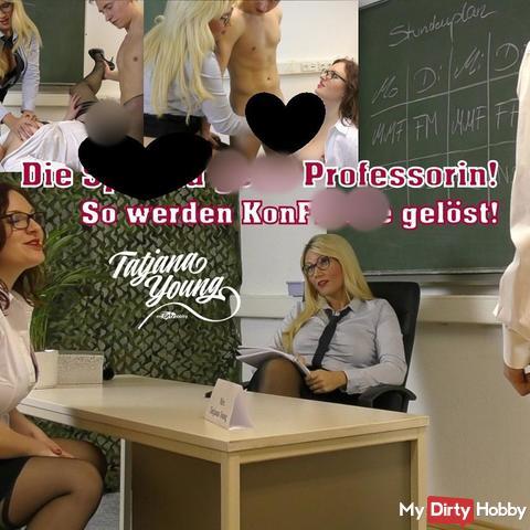 Die sper*a geile Professorin! So werden Konfi**te gelöst!