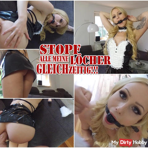 STOPF all my holes SAME TIME! - CHARWOMAN ROLE PLAY