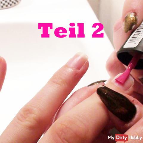 Pink nails of the sweet transgirl 2/2