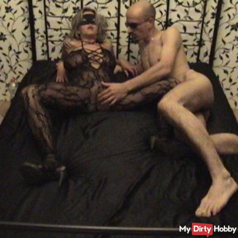 Doggy fucked and fingered to orgasm