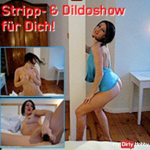 Stripping & dildo show for you!