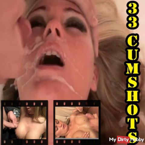 33 CUMSHOTS ! Sperma satt ! Best of !