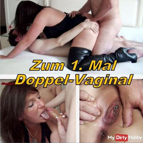 For the 1st time Double Vaginal (Creampie)