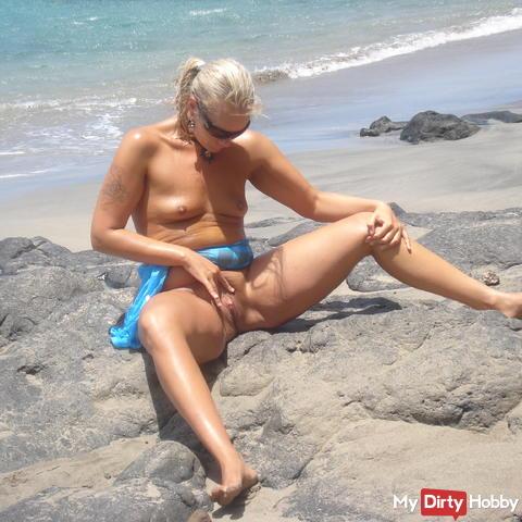 Islas Canarias 12. Wildekatze am Strand II. - Outdoor -  Masturbieren