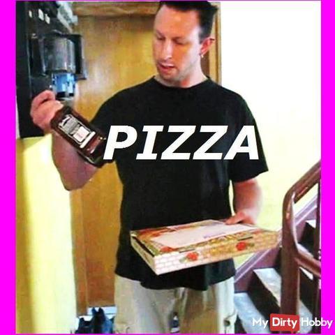 PIZZA MAL ANDERS BEZAHLT + GEILER CUMSHOT!!!