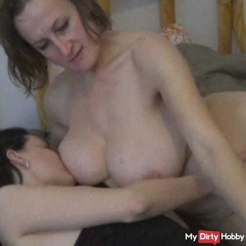 Teat on my tits LITTLE!