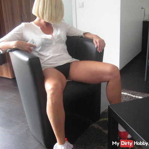 horny blonde bored