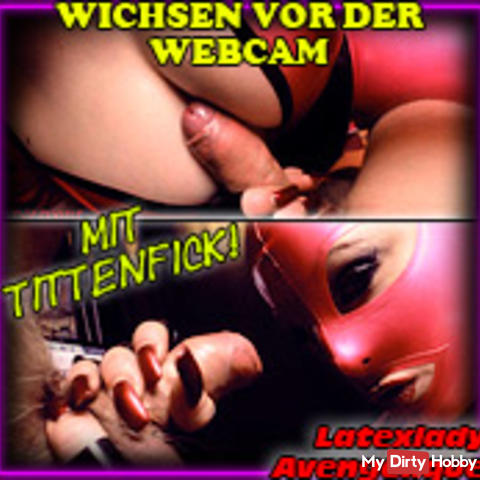 1st time masturbating on webcam!