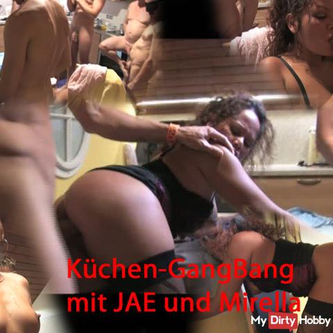 Kitchen gangbang with JAE and Mirella